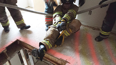 unconscious firefighter