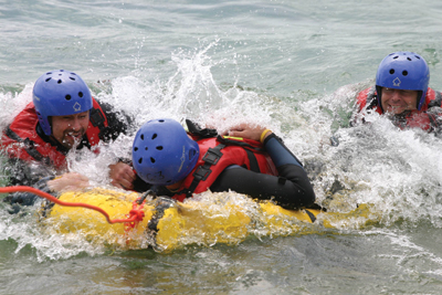 Cold-water rescue training