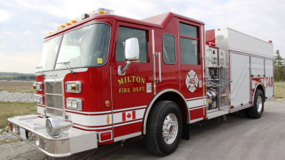 The Milton Fire Department Fire Fighting In Canada