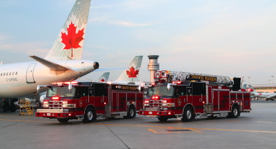 Toronto Pearson International Airport Fire Fighting In