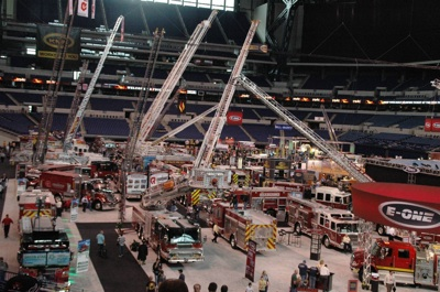 Apparatus fill the Lucas Oil Stadium at FDIC
